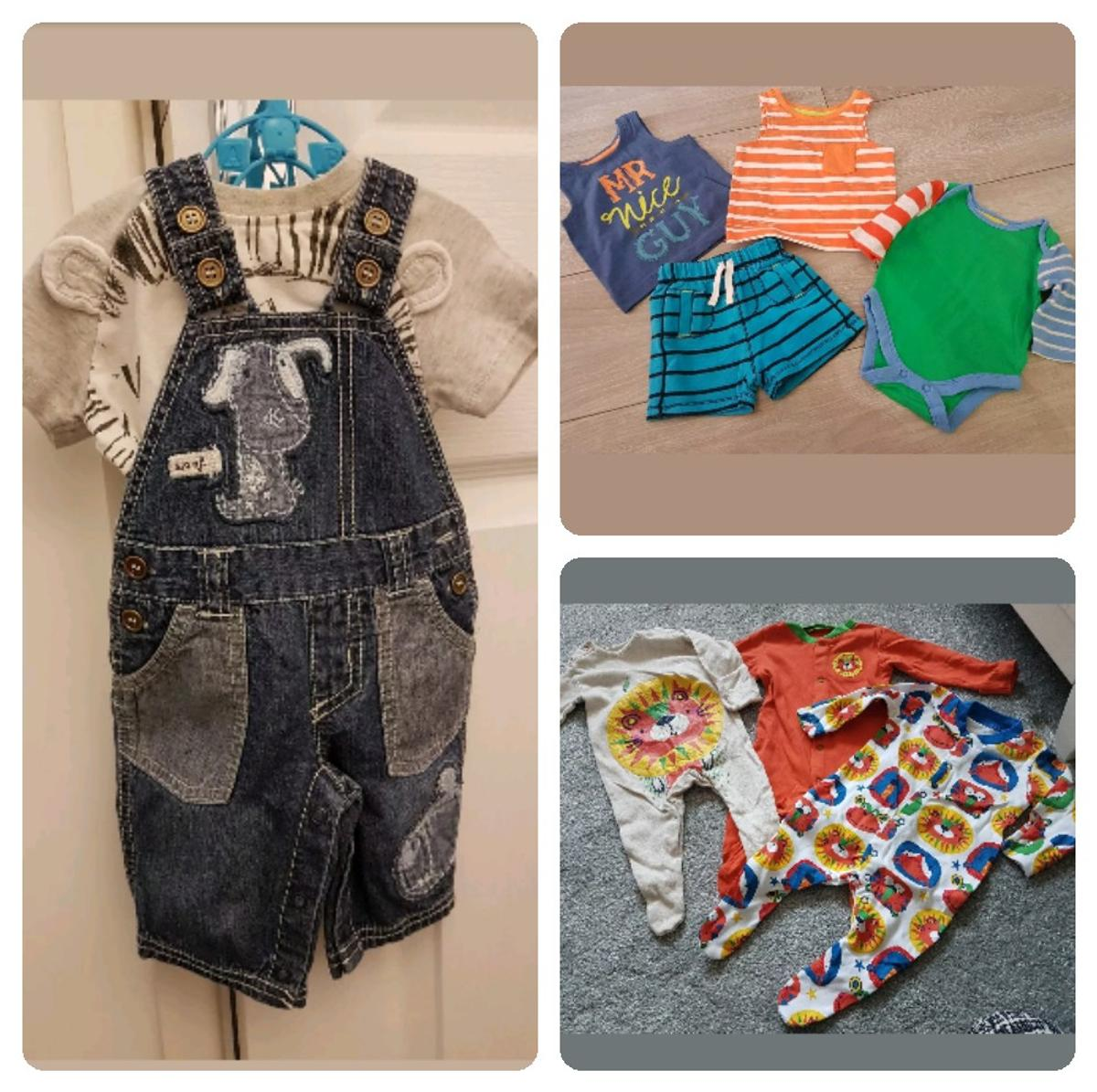 excellent condition hardly worn. denim dungerees and top next ...tu baby grows ...f&f vests .