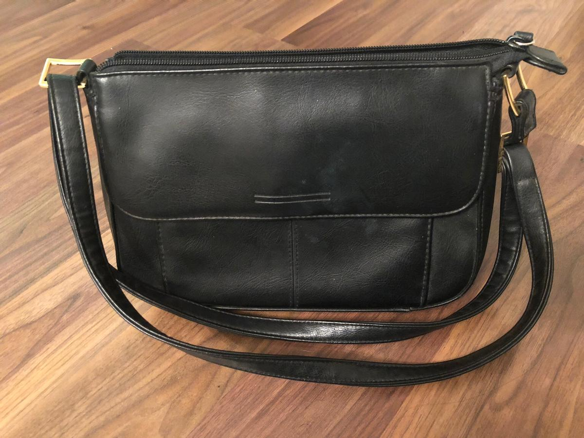 Marks and Spencers Black Handbag for sale.  In really good condition.  Collection only from S74
