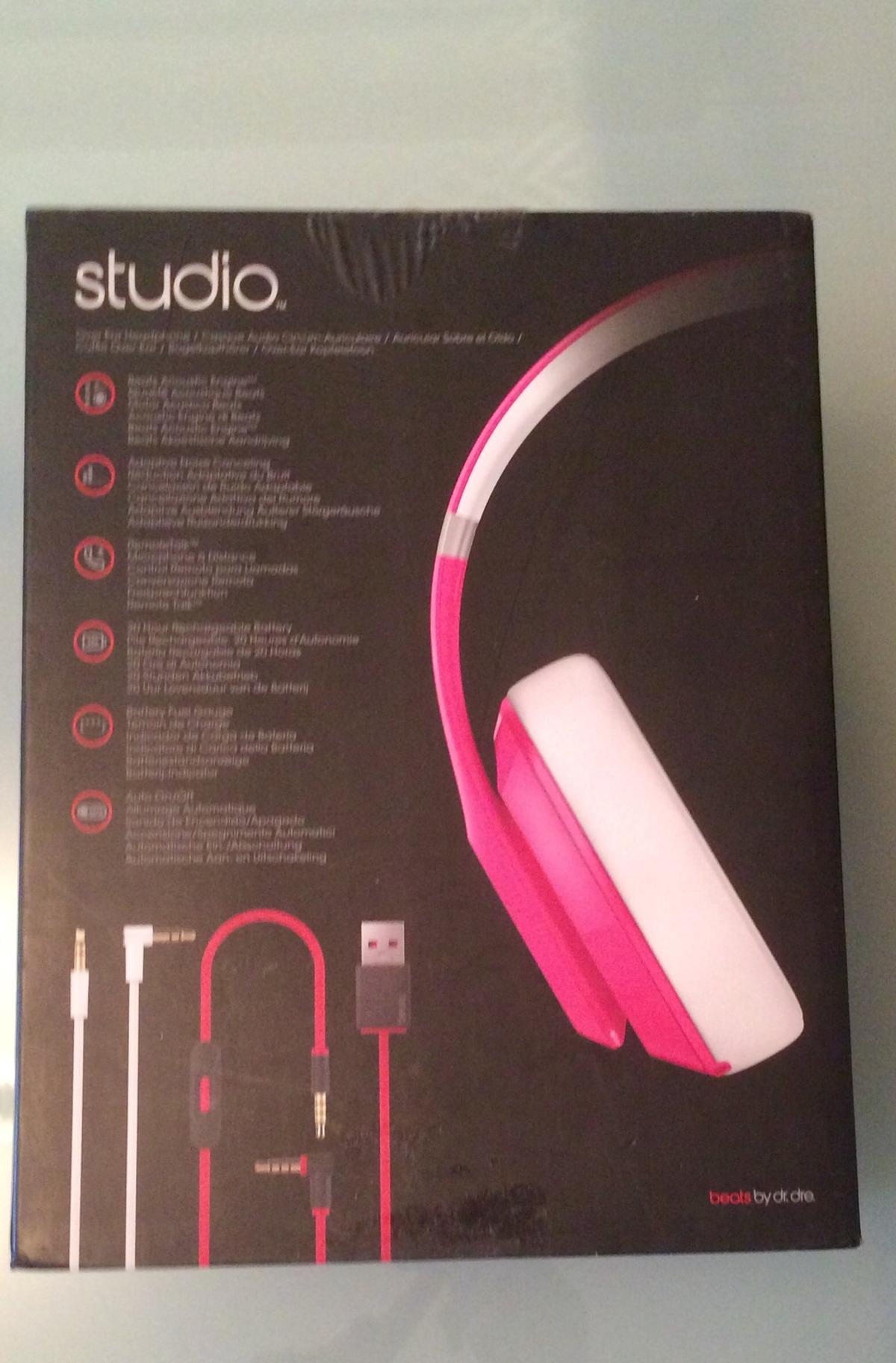 Brand new in original packaging pink studio beats by Dr Dre  Happy to drop off if buyer is within 10 miles radius of WR97