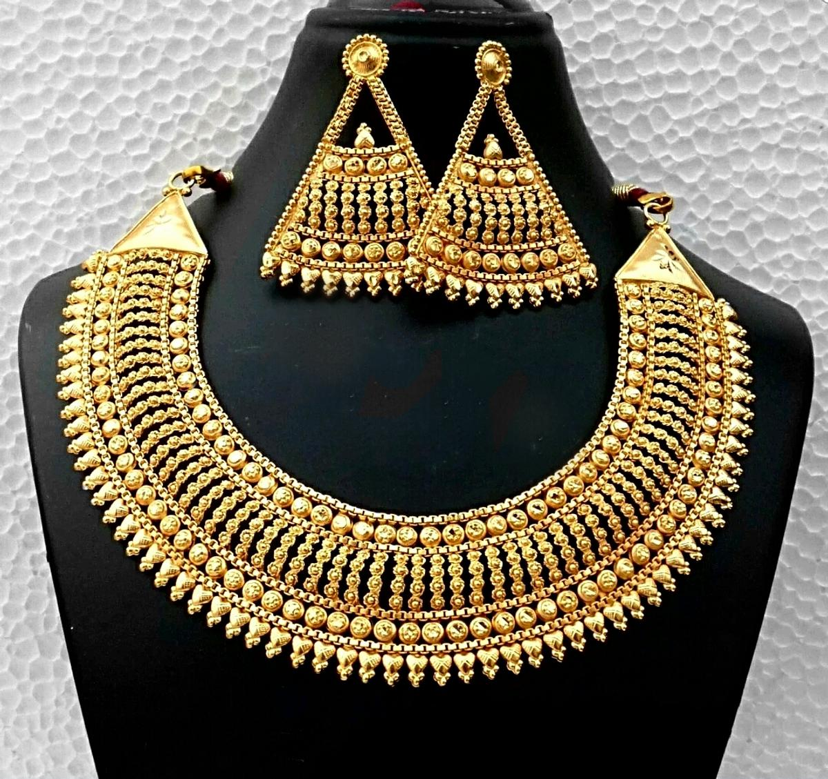 New22ct Indian Pakistani Asian Jewellery Set In M32 Trafford For
