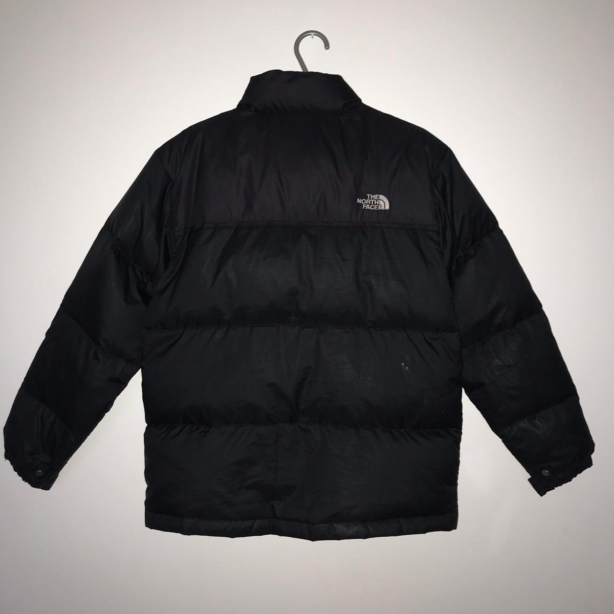 Black The North Face Nuptse 550 Down Jacket in TQ2 Paignton
