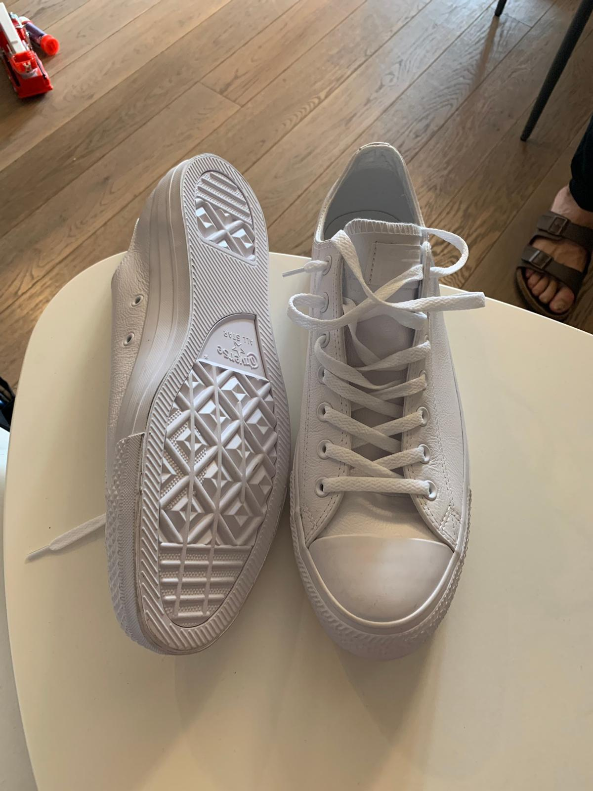 converse all star in pelle bianche