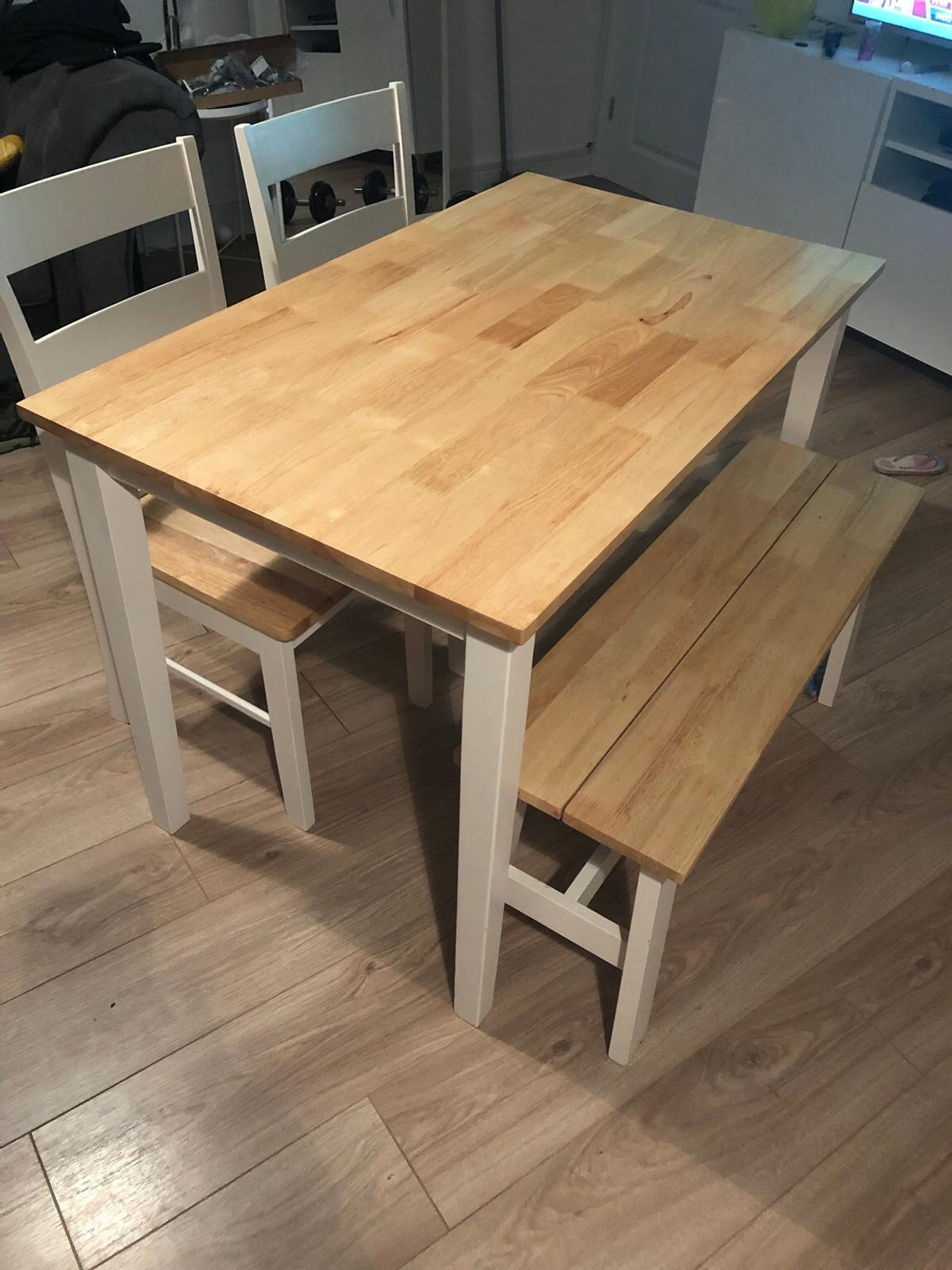 Argos Chicago dining table bench and 9 chairs