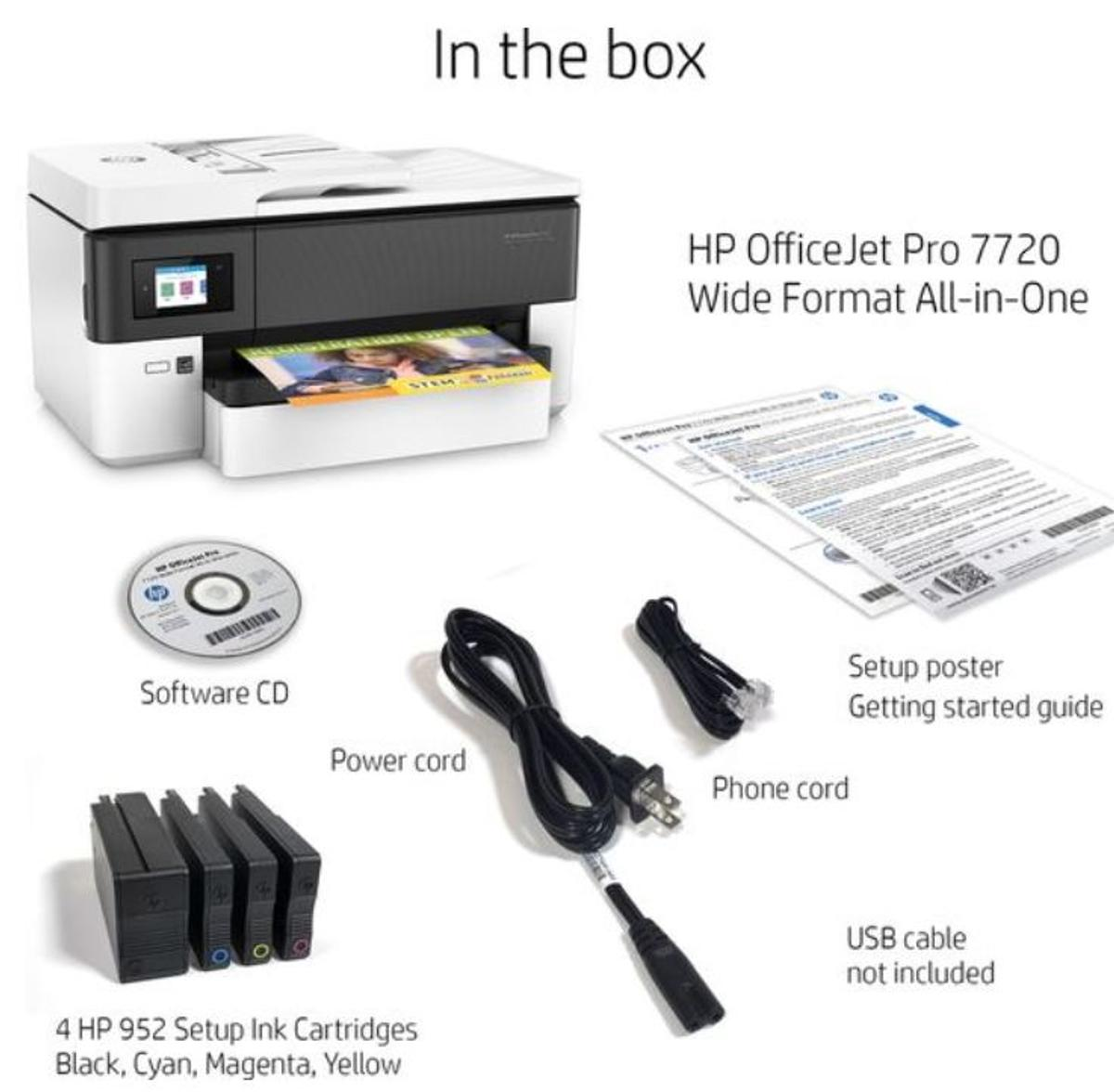 HP OfficeJet Pro 7720 A3 Printer with Fax in TW14 Hounslow