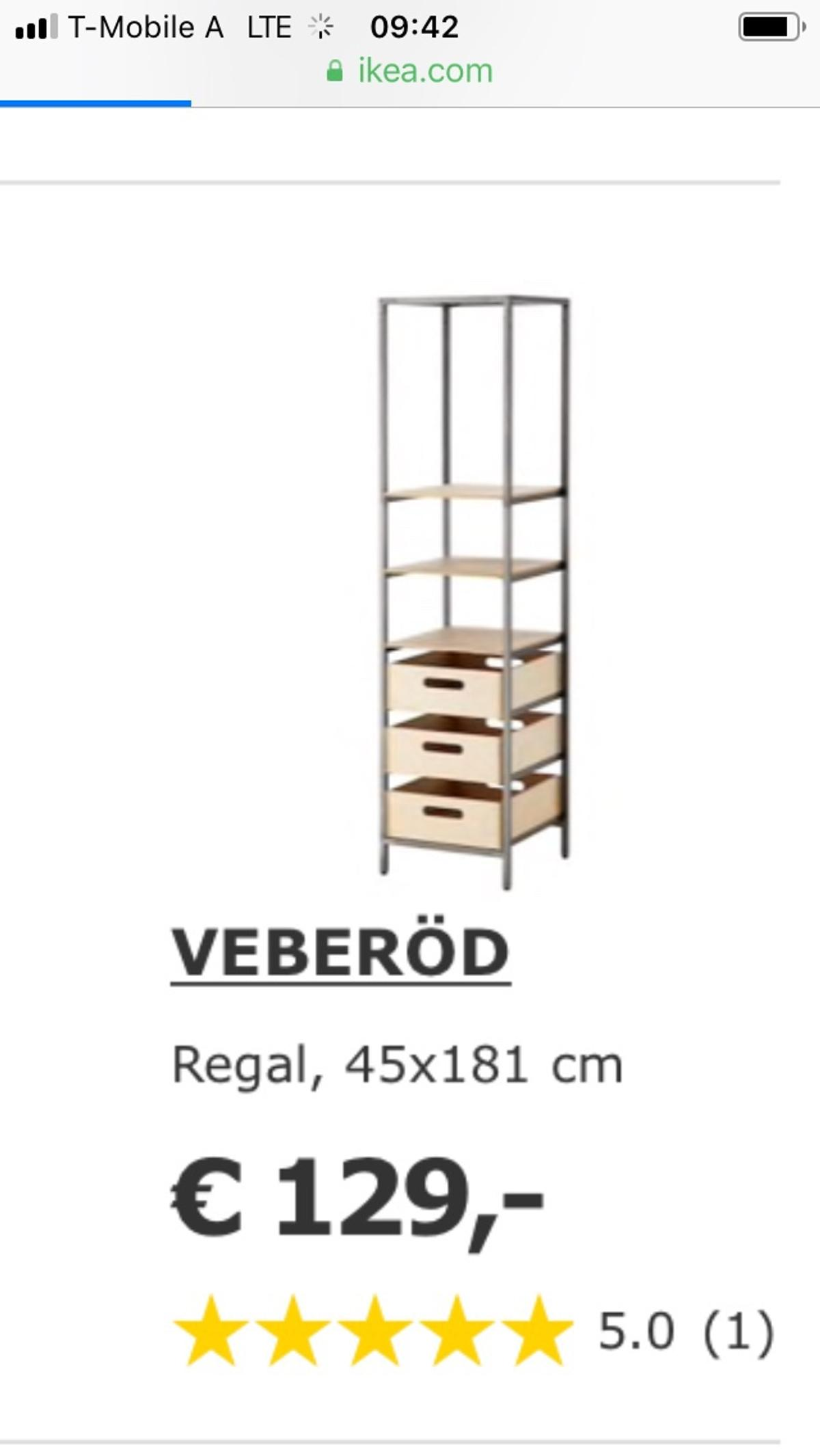 VEBERÖD Ikea Regal Industrie Industrial Style in 4300
