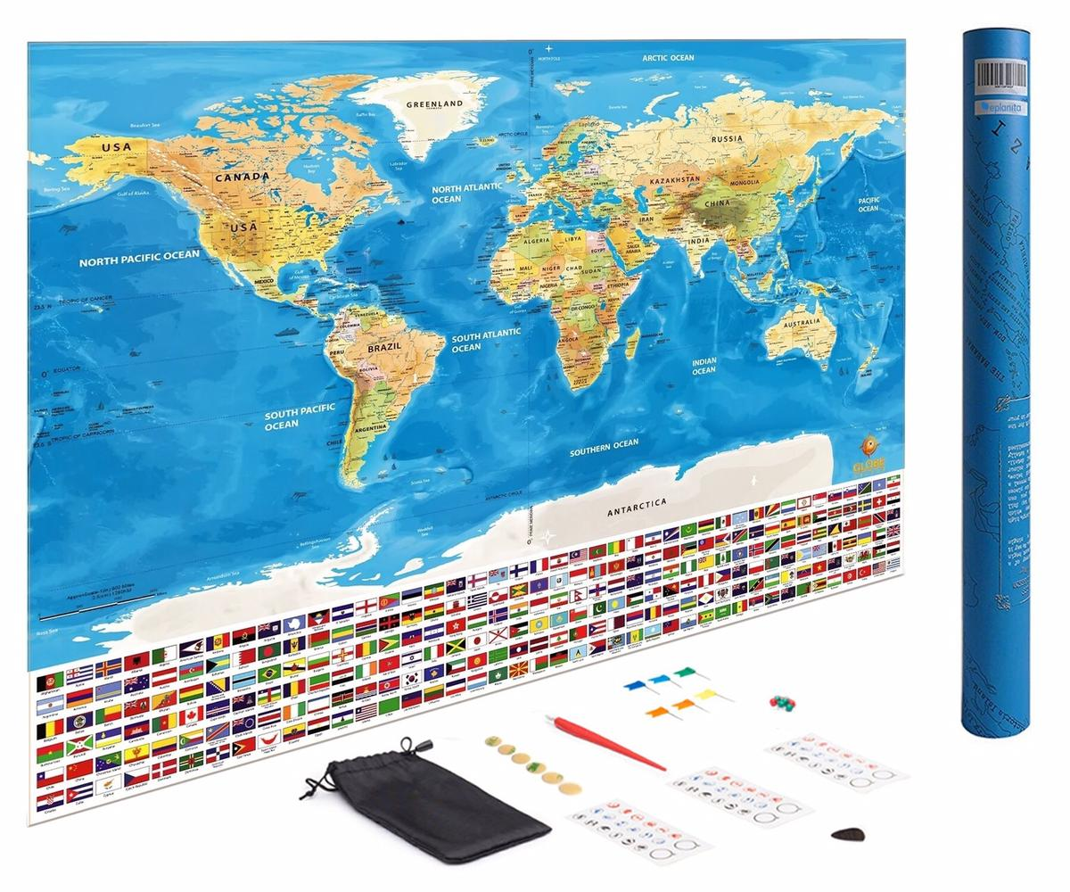 Scratch Off World Map in KT2 Thames for £5.00 for sale | Shpock