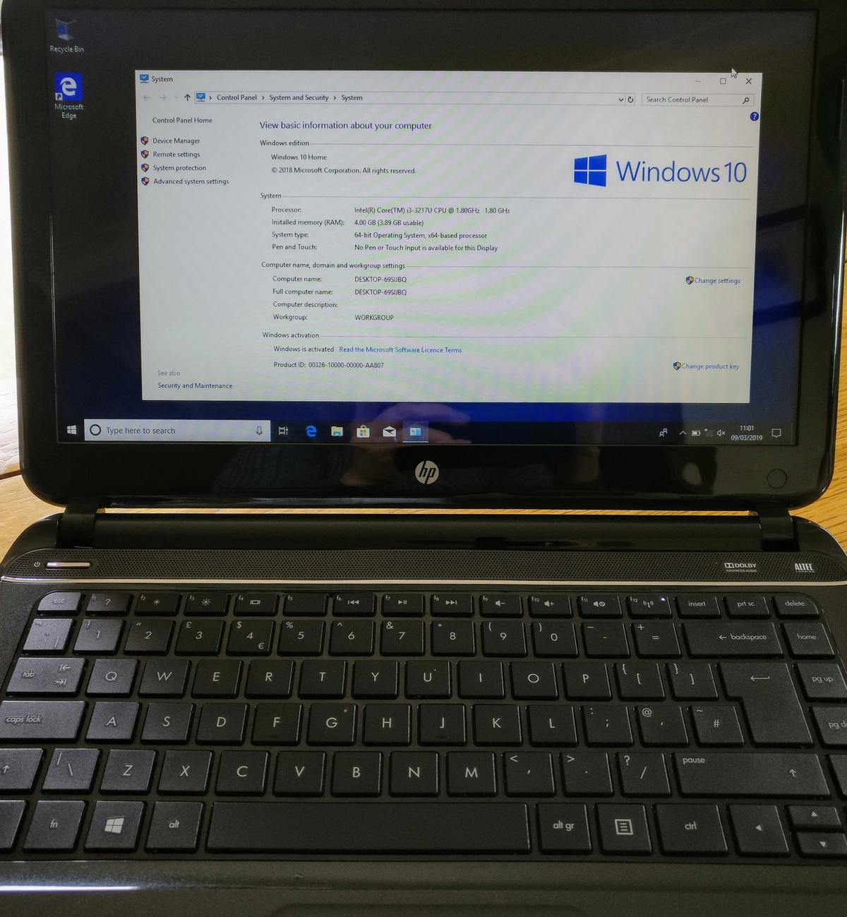 HP Pavilion Ultrabook 14-b003SA in SS7 Point for £160 00 for sale