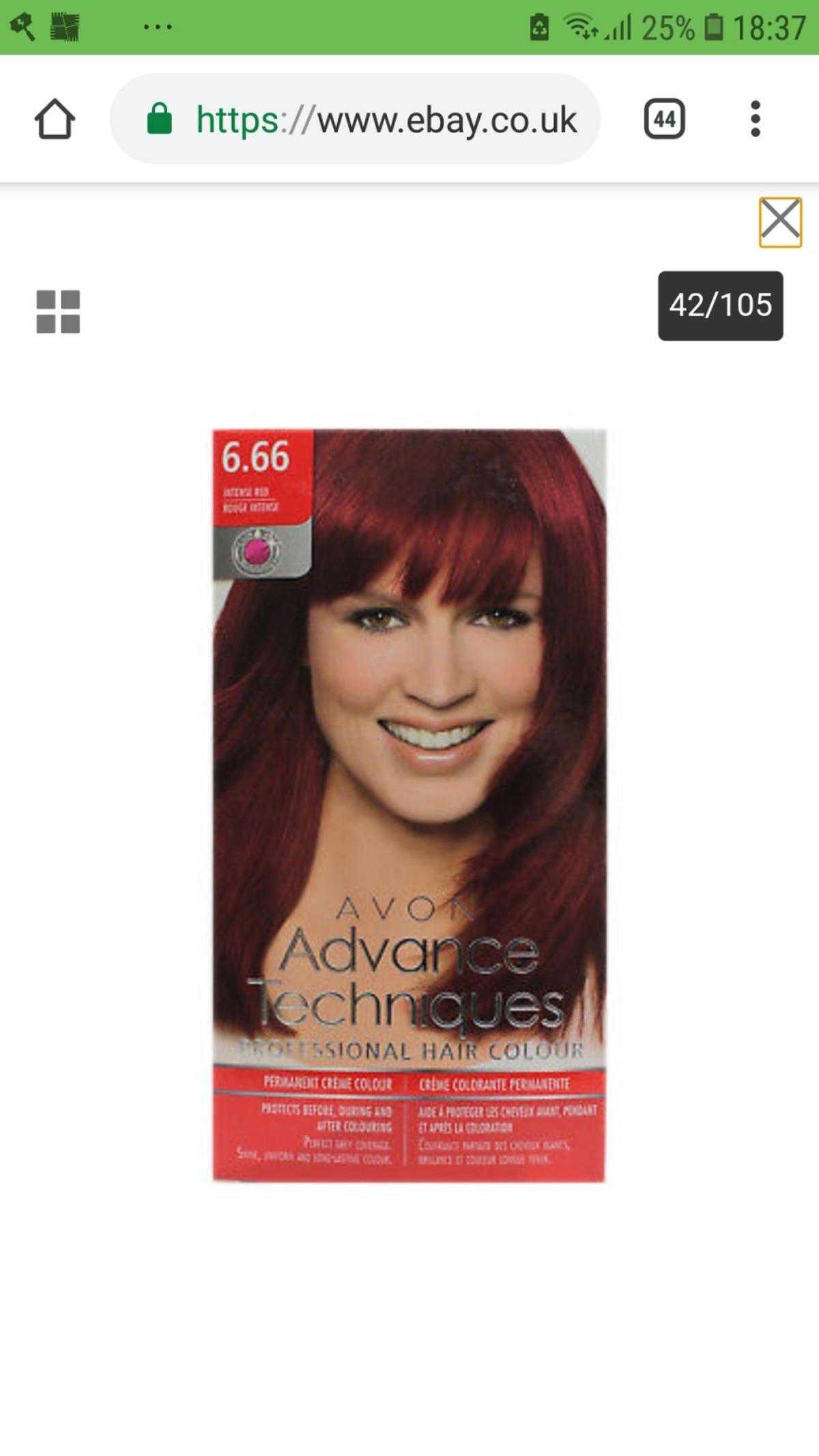 AVON Hair Dye - Colour Intense Red No. 6.66 in Lackenby for ...