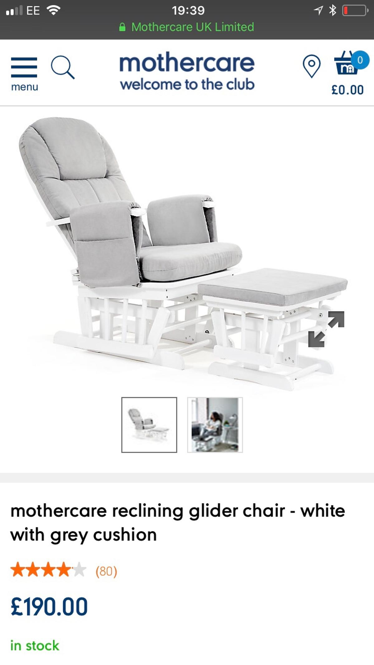 Phenomenal Mothercare Grey Nursing Chair Pabps2019 Chair Design Images Pabps2019Com
