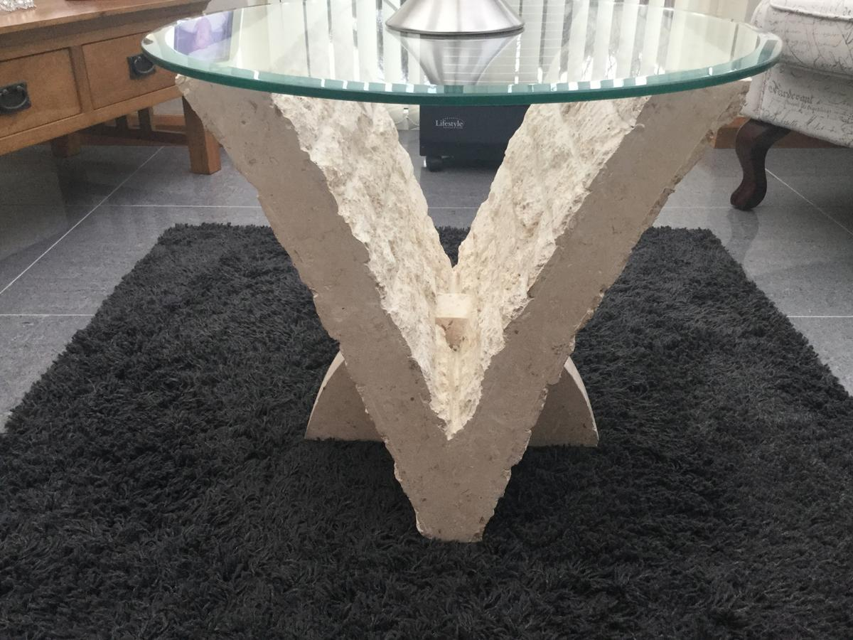 Mactan Stone Side Table In Walsall For 25 00 For Sale Shpock