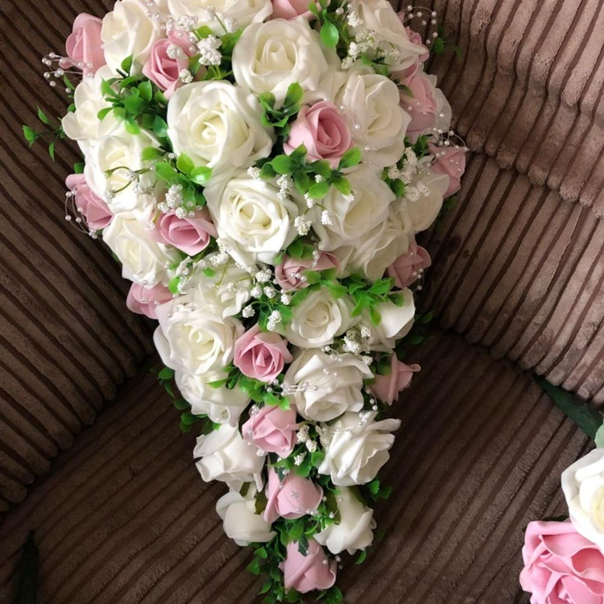 Roses For Sale Near Me >> Pink Ivory Bouquet With Pearl Sprays