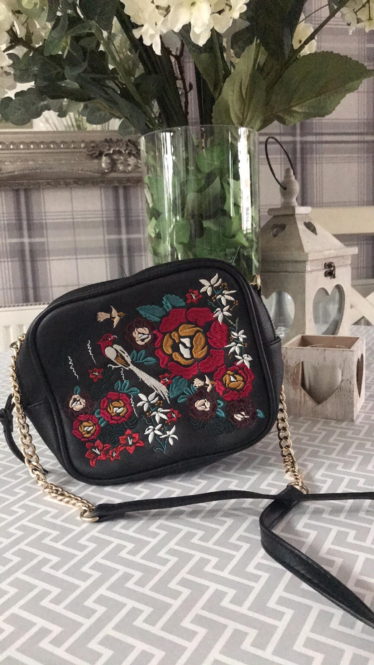 multiple colors for sale uk availability New look embroidered flower bag