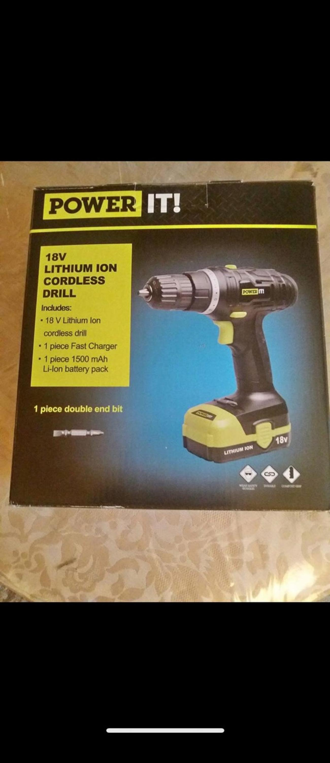 POWER IT! 18V LITHIUM ION CORDLESS DRILL