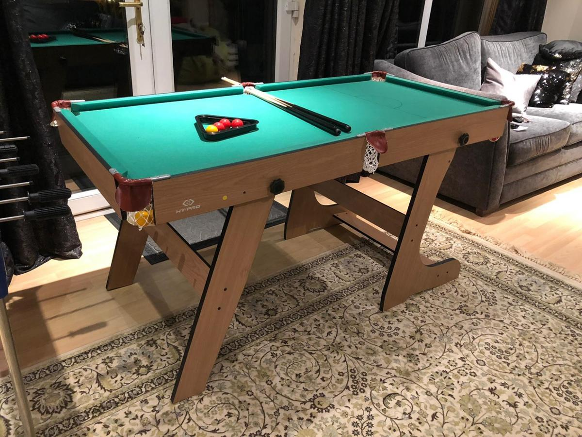- Hy-pro 5ft Folding Snooker And Pool Table In Manchester Für £ 40