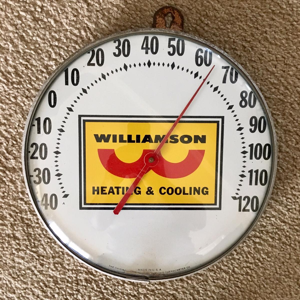 "Vintage Advertising 12"" Round Thermometer in for US$95 00"