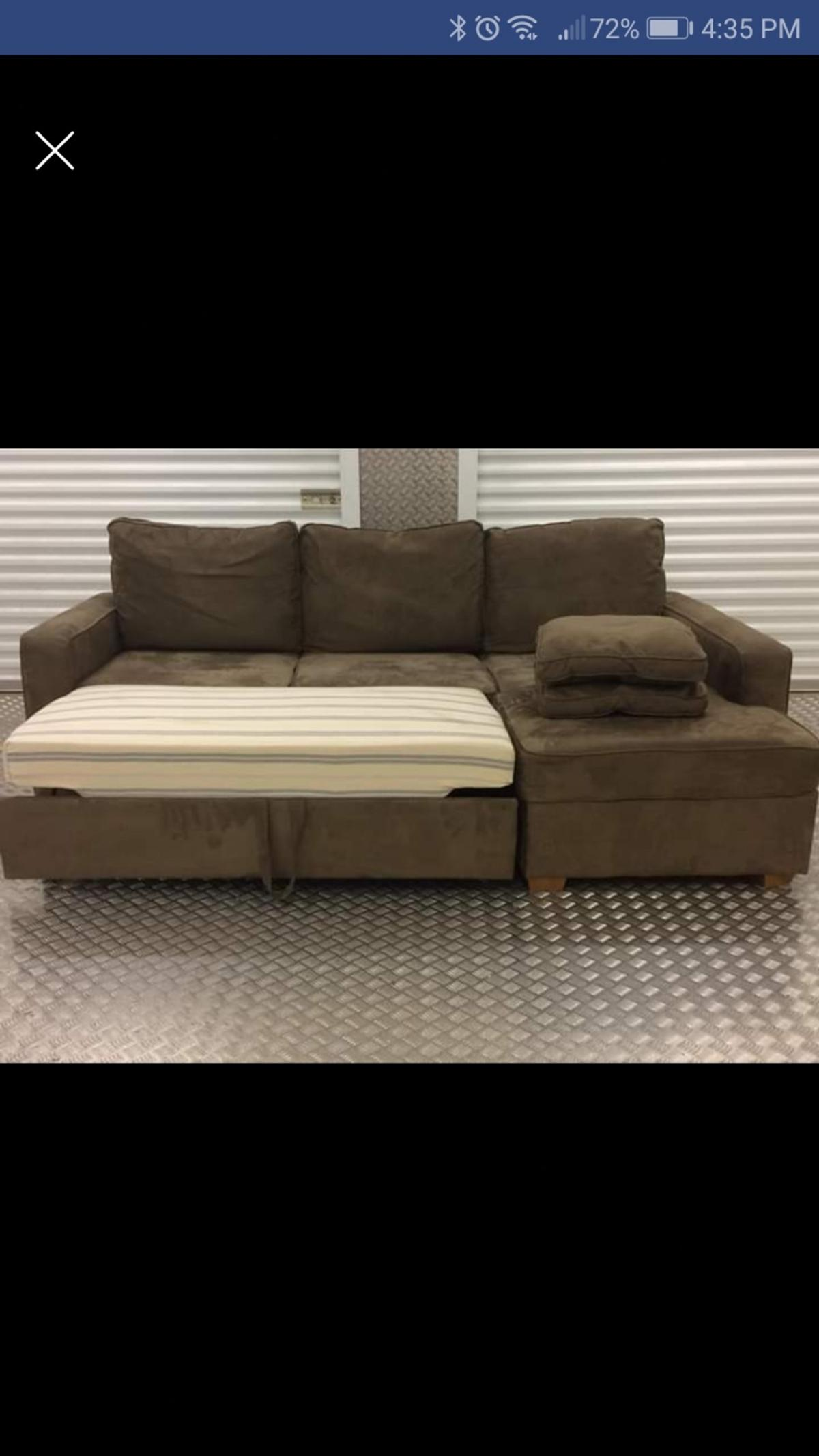 FINAL REDUCTION 3 Seater Brown corner sofabed