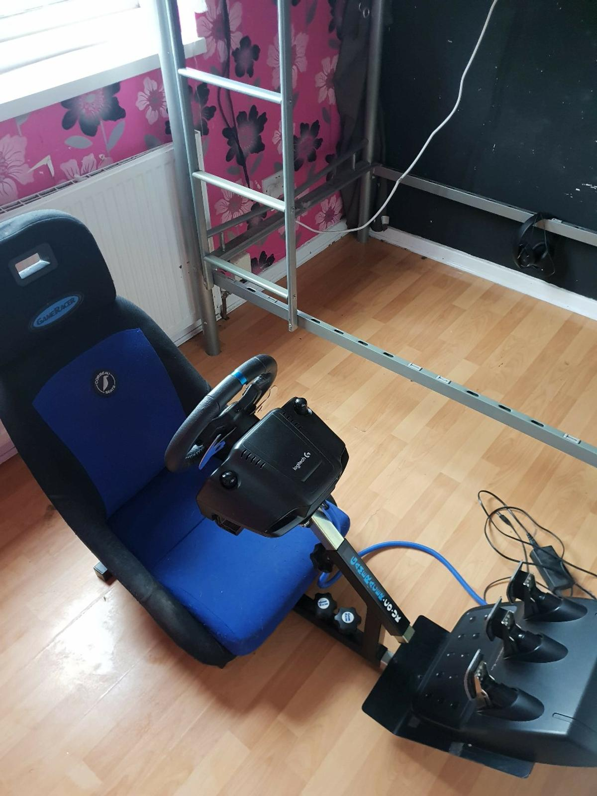 Logitech G29 driving force set up PS4 in PR26 Ribble for