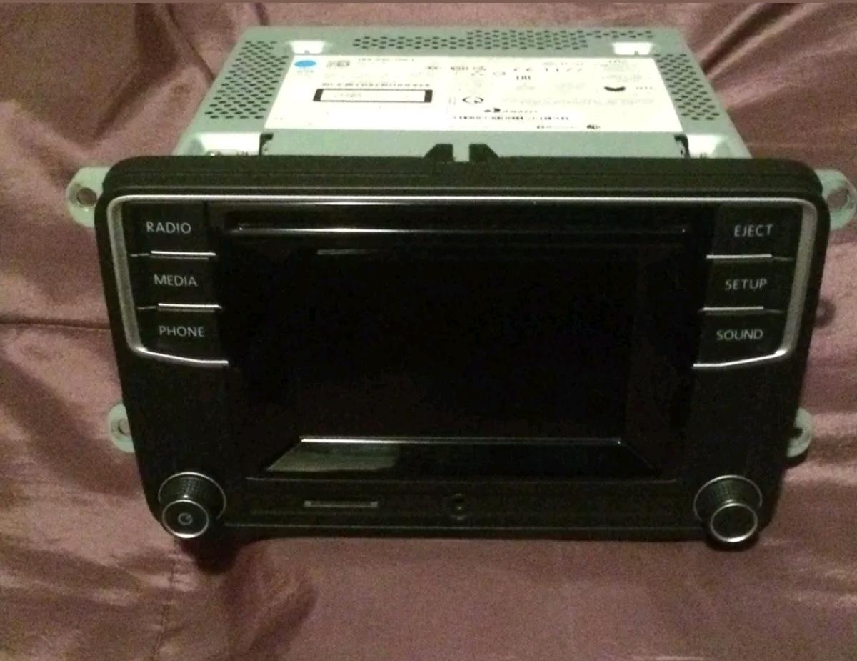 vw screen cd player aux sd card
