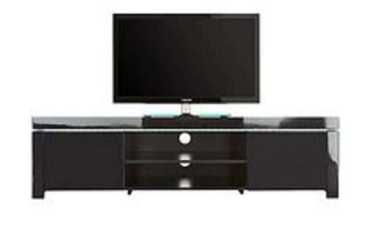 Charmant Atlantic TV Unit LED Lights Black High Gloss