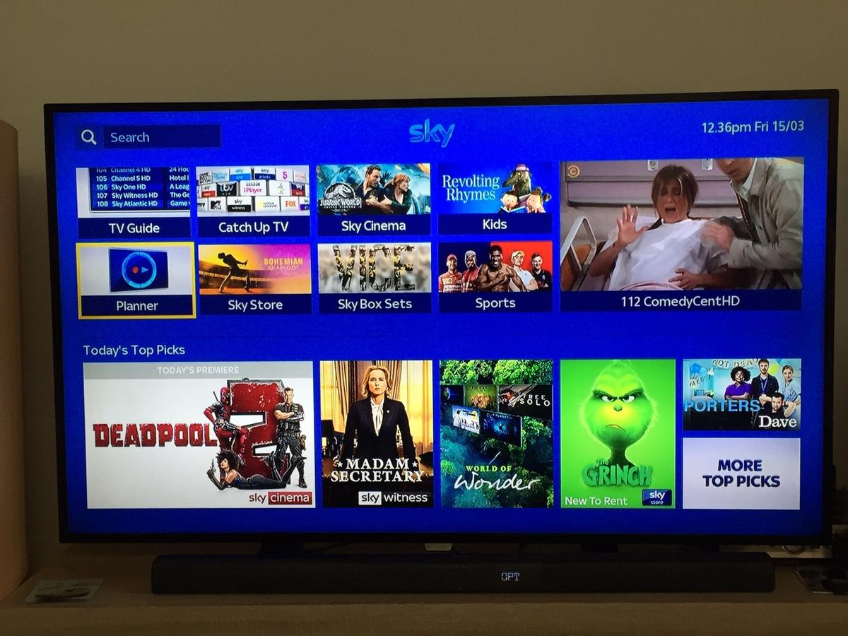 """55"""" Philips UHD TV with soundbar in SY4 Wem for £350 00 for"""