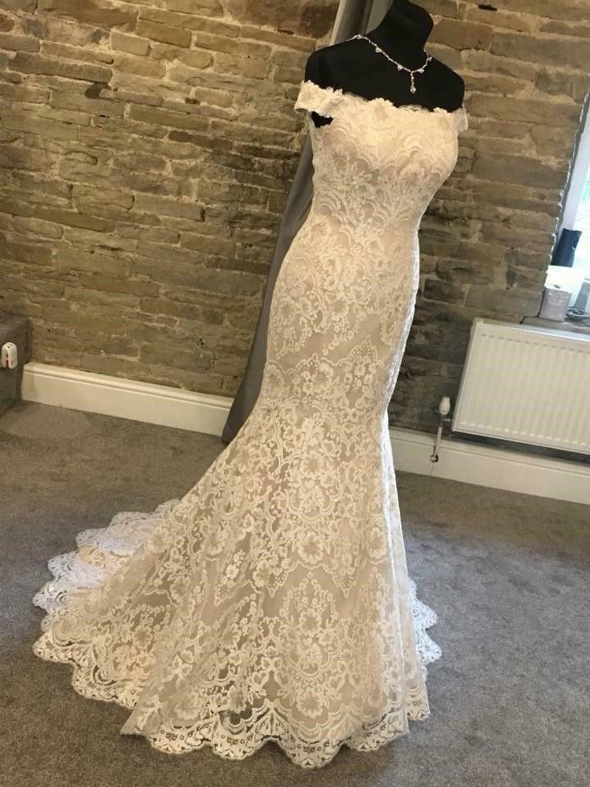 Brand New White Rose R1105 Wedding Dress In Np19 Newport Fur