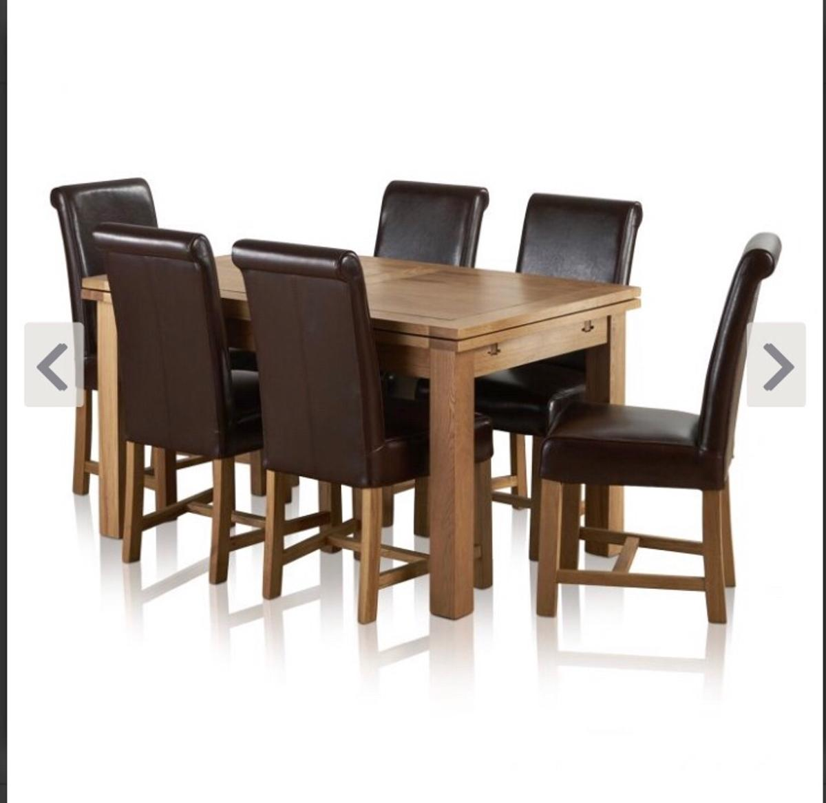 Astonishing 4Ft 7Natural Solid Oak Dining Table 6 Chairs In Manchester Download Free Architecture Designs Embacsunscenecom