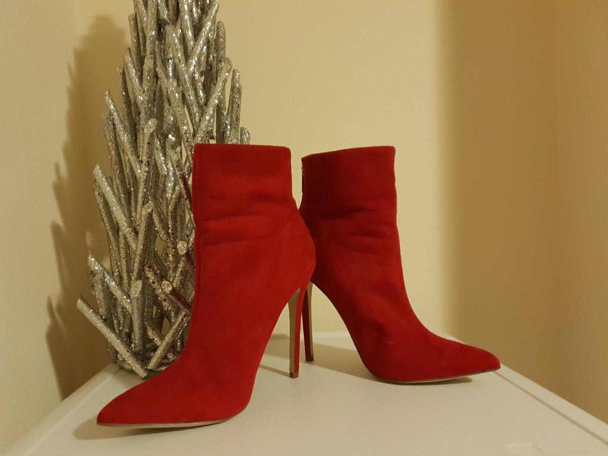 859e82362d Red high heel JustFab boots size 7.5UK in CR7 London for £13.00 for ...