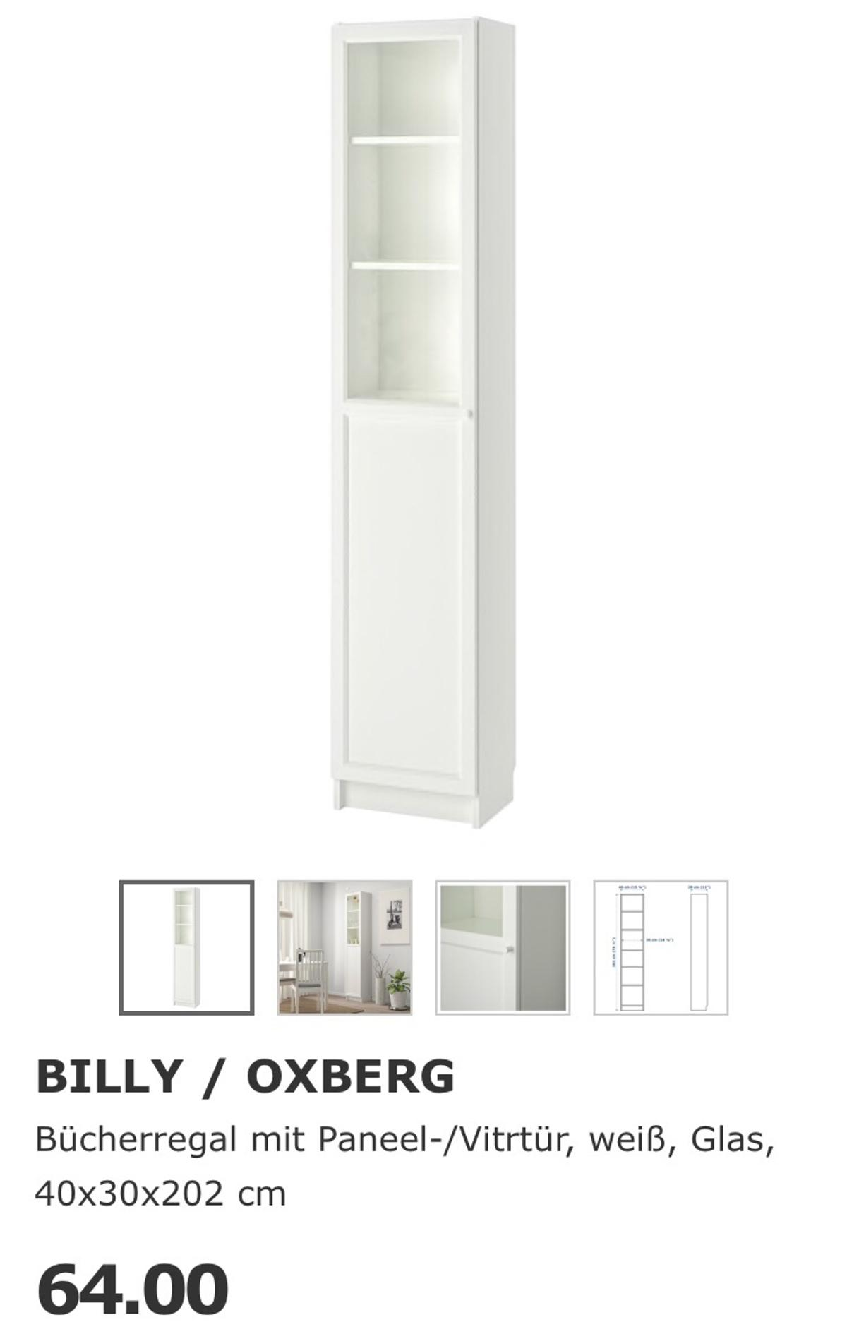 Ikea Billy Regal Vitrine Oxberg Tur Weiss In 86153 Augsburg Fur