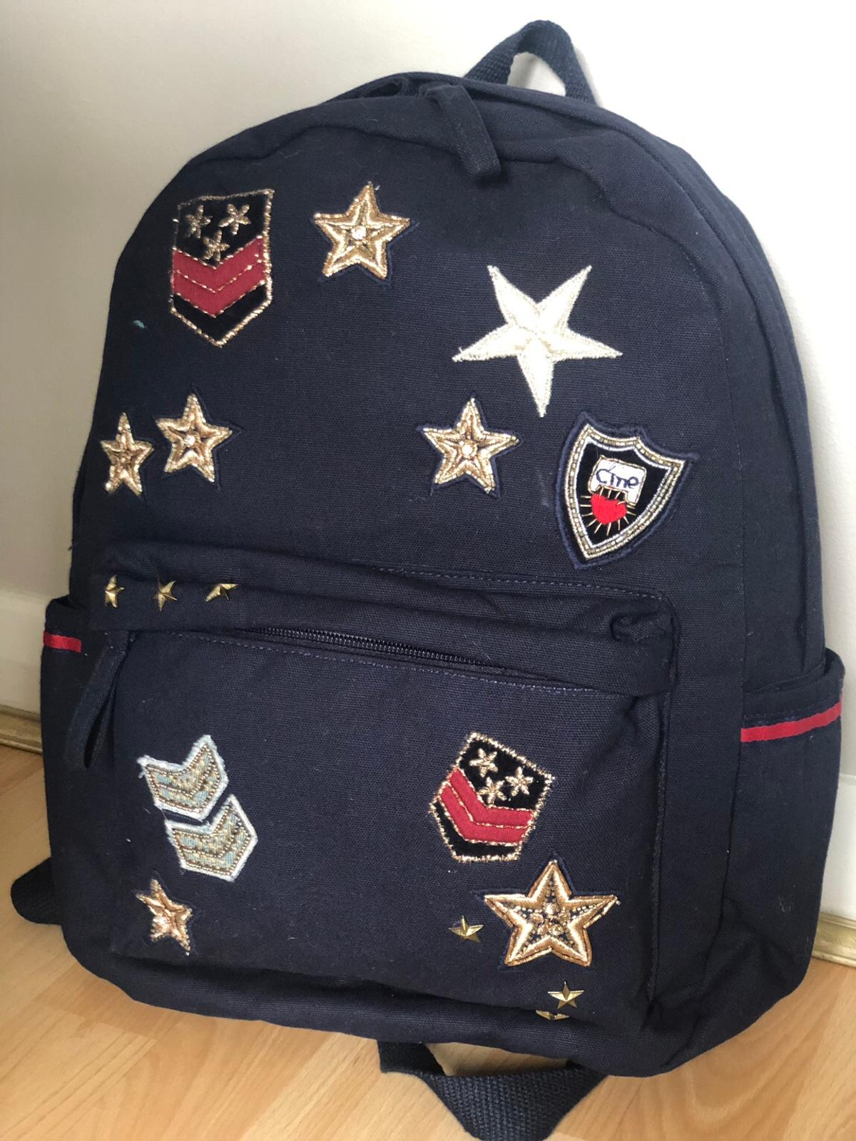 c5137bbf5 Accessorize canvas navy backpack rucksack in M25 Kirkhams for £15.00 ...