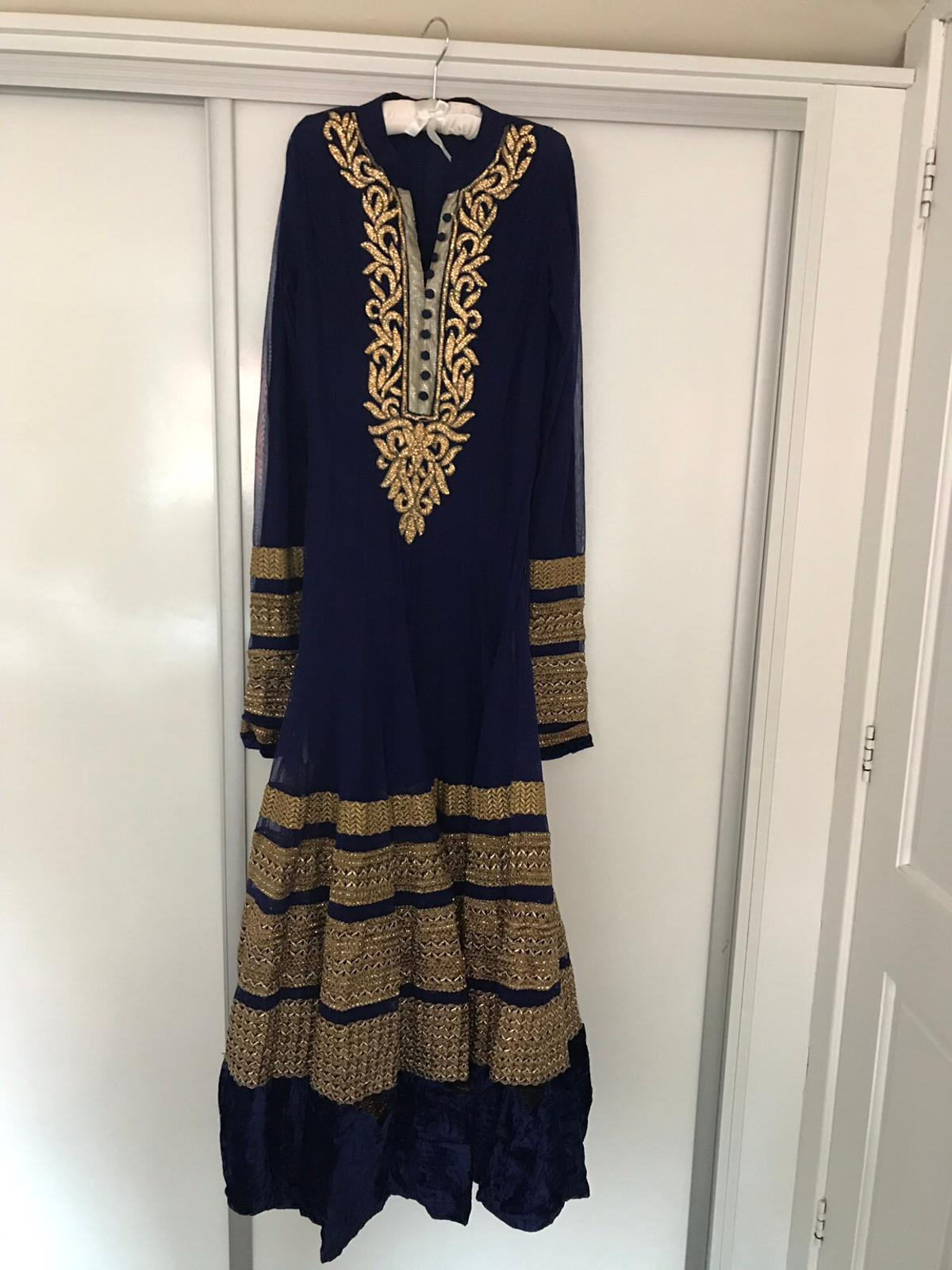 Indian Royal Blue And Gold Maxi Dress In Bb1 Blackburn For 65 00 For Sale Shpock