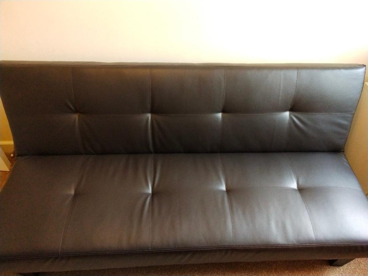 Magnificent Cousin Black Leather Sofa Bed In Wv4 Wolverhampton For Camellatalisay Diy Chair Ideas Camellatalisaycom
