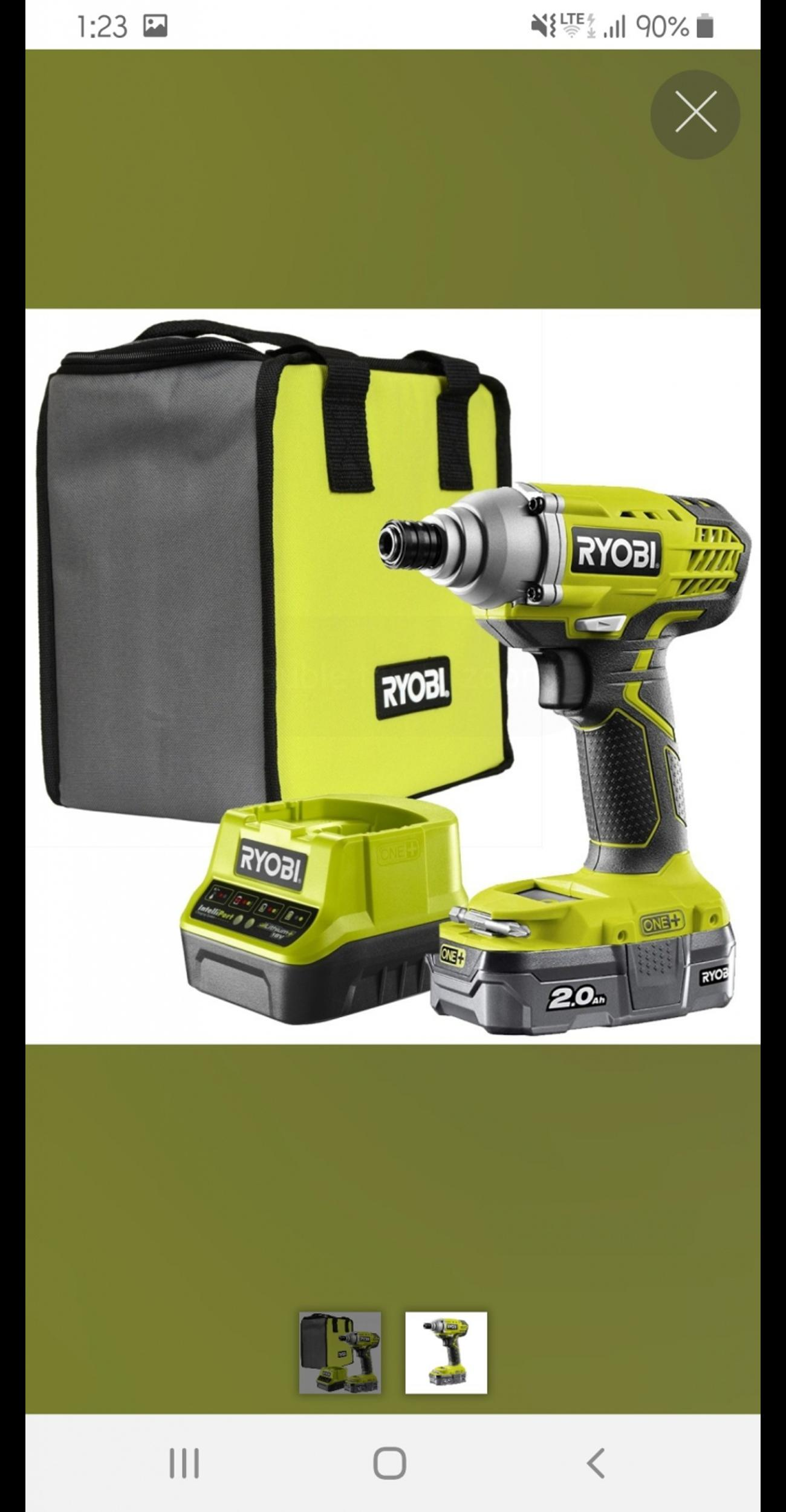 RYOBI R18IDP 18V Cordless Impact Driver Set in Clapham for