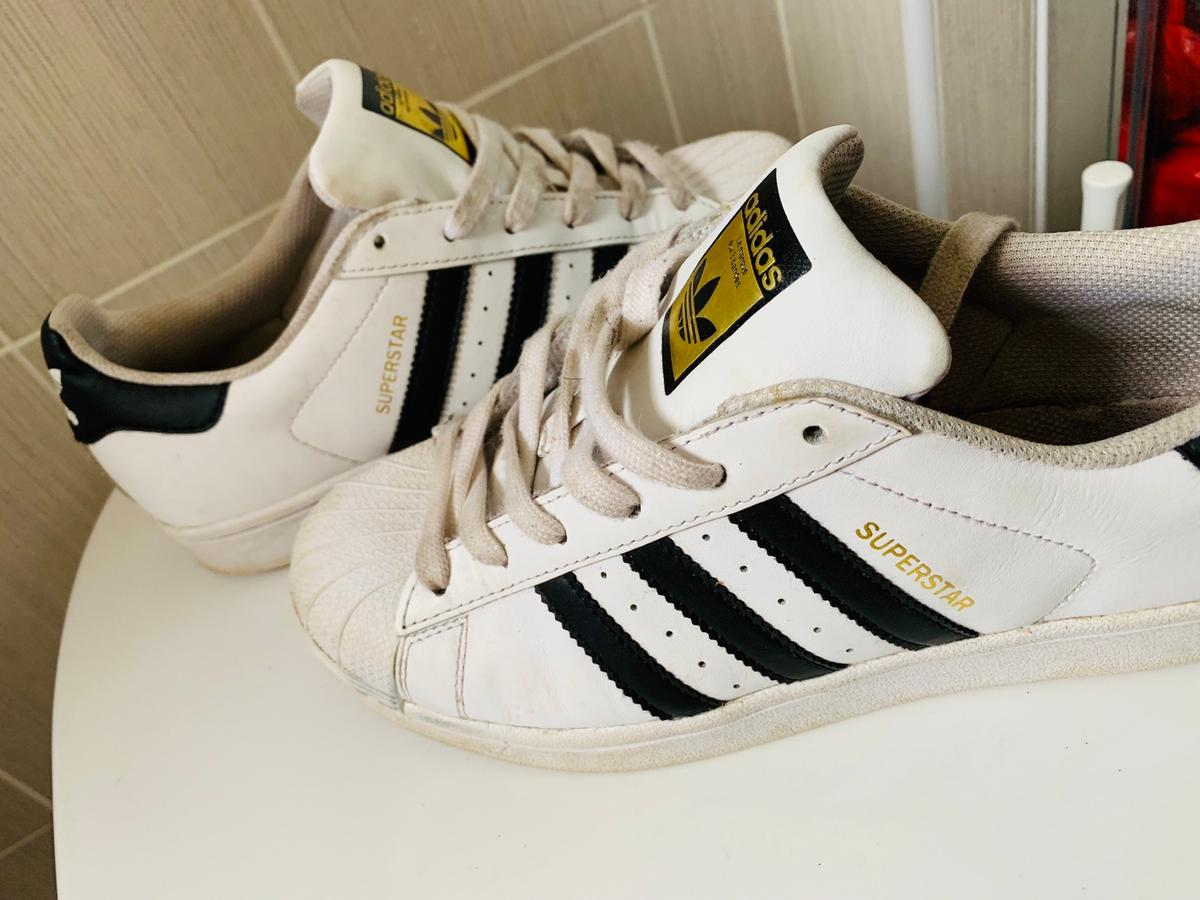 the latest a2da5 6af11 Adidas superstar trainers size 5