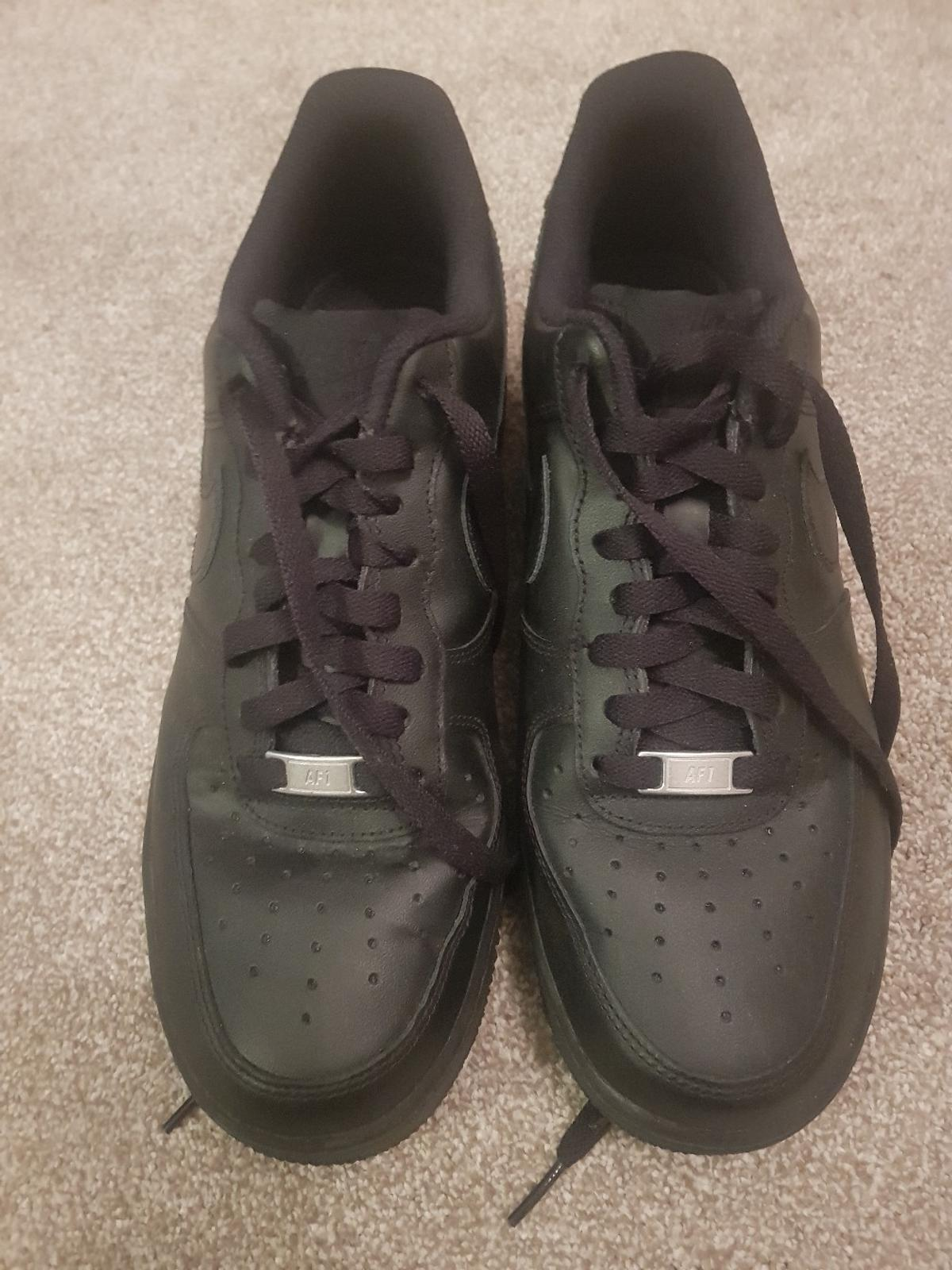 2b74269ed32e5 Description. Black Nike Air - Air Force 1 trainers size 8 adult worn ONCE  ...