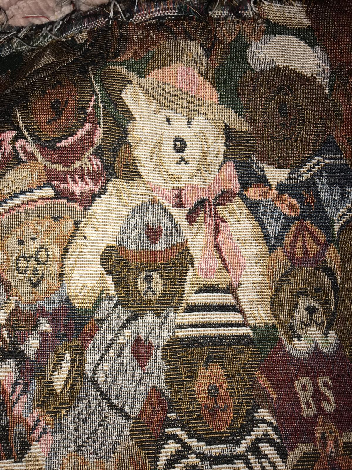Teddy Bear Tapestry Fabric/Material