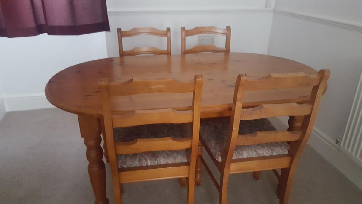 Pleasant Dining Table And 4 Chairs Home Interior And Landscaping Palasignezvosmurscom