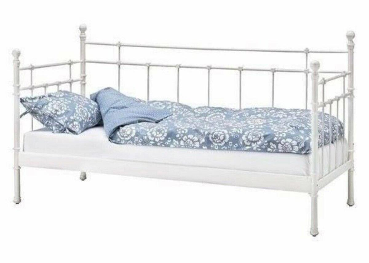 Ikea Cream Iron Single Bed Frame In Se12 London For 50 00 For Sale Shpock