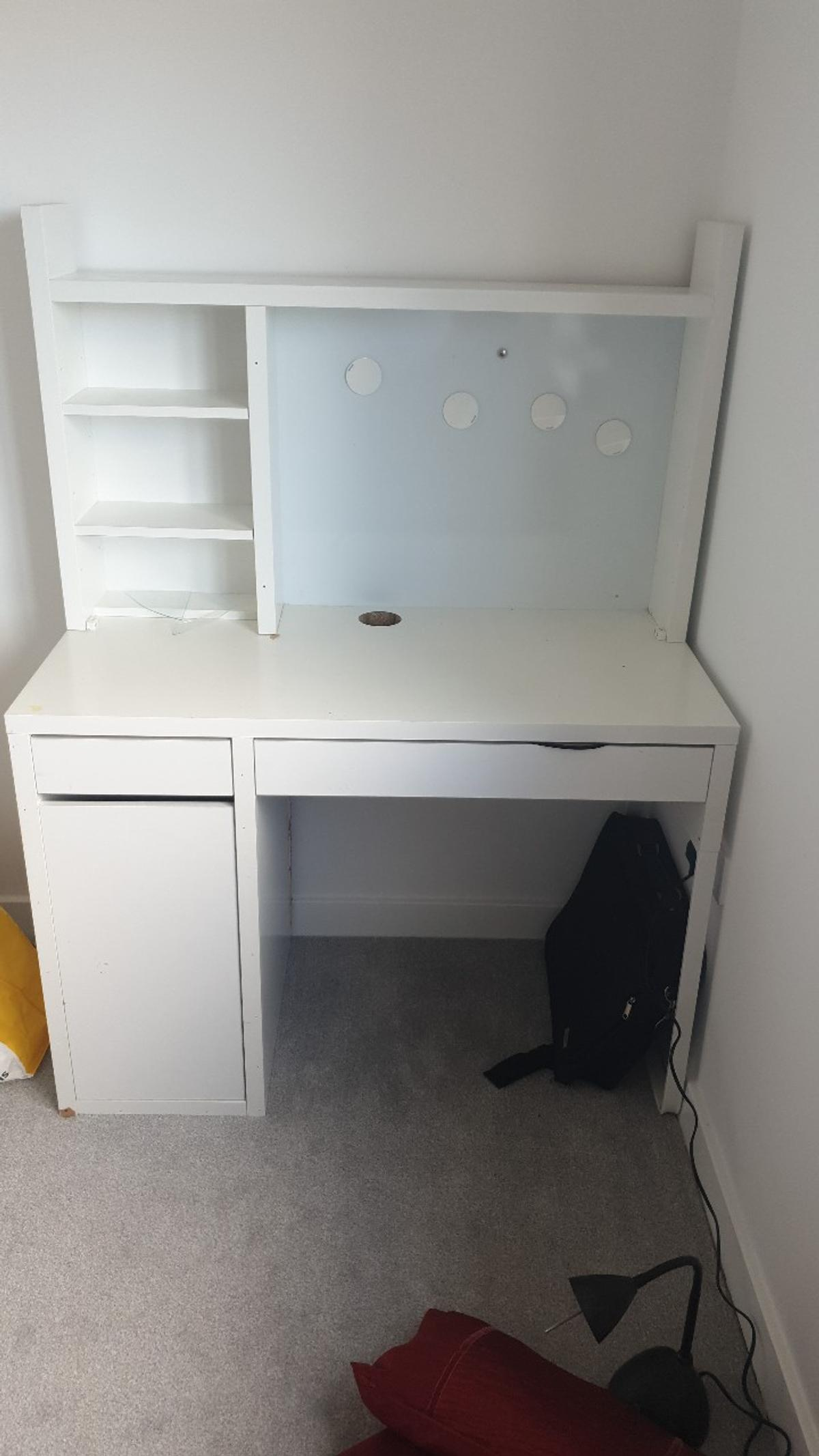 Genial Used MALM IKEA White Desk