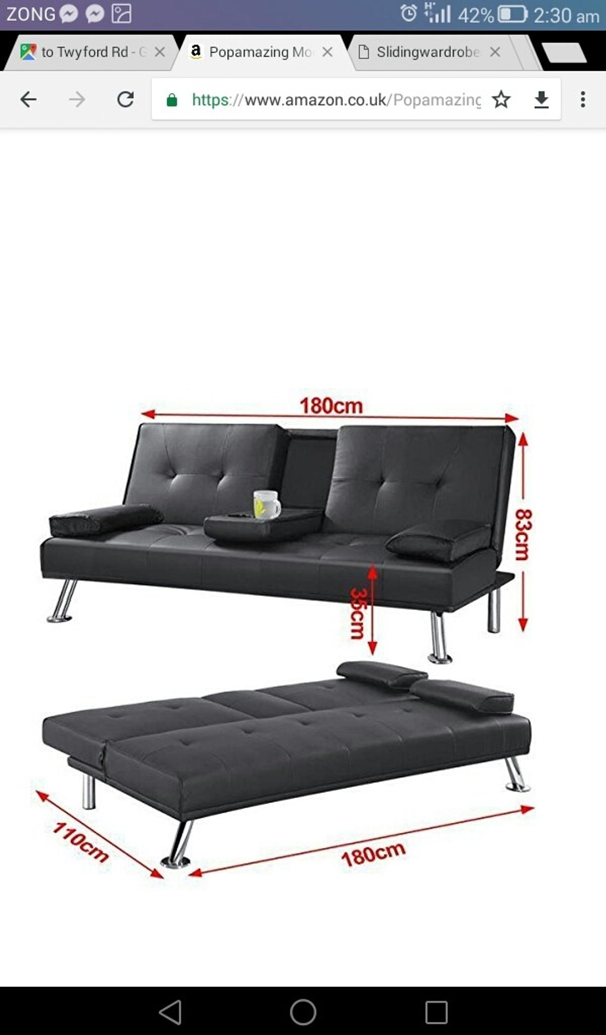 Marvelous Flat Pack Brand New Comfy Sofa Bed In Black In E1 London Machost Co Dining Chair Design Ideas Machostcouk