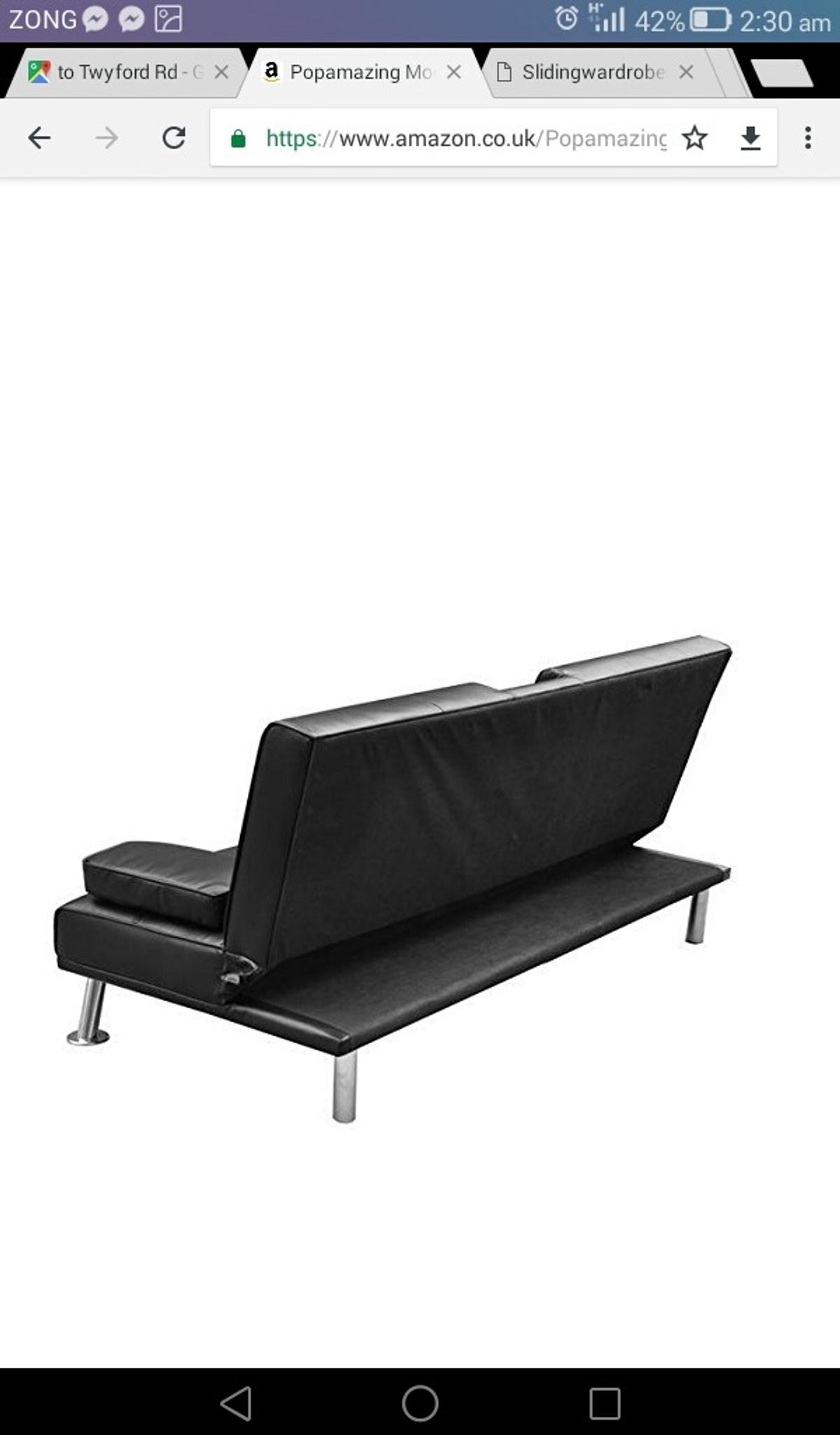 Miraculous Flat Pack Brand New Comfy Sofa Bed In Black In E1 London Machost Co Dining Chair Design Ideas Machostcouk