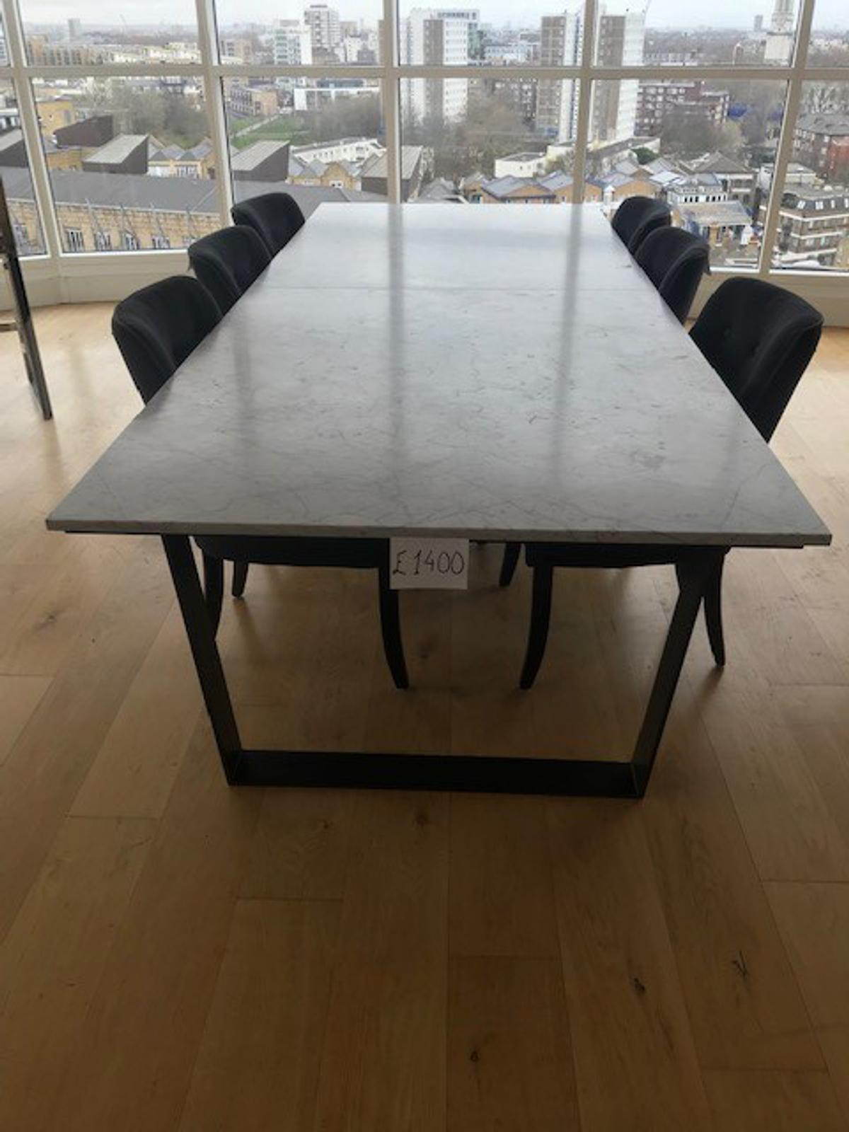 - Granite Top Dining Table And 6 Chairs In E14 London Borough Of