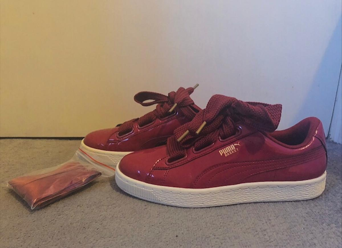 check out 2ba7a 0f6e1 Puma basket heart patent trainers in BR4 London for £25.00 ...