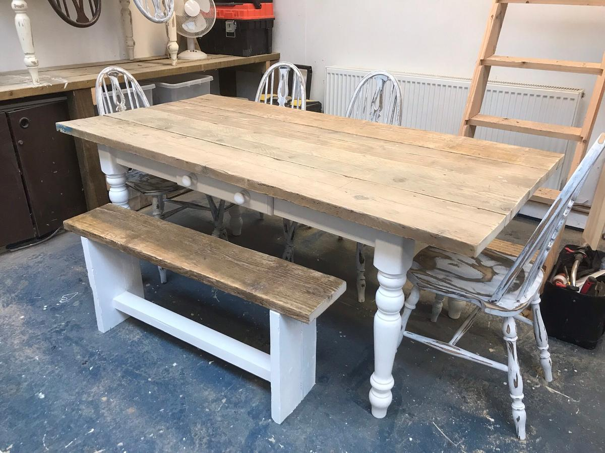 Lovely Rustic Farmhouse Table Chairs Bench In Tn12 Tunbridge Wells For 300 00 For Sale Shpock