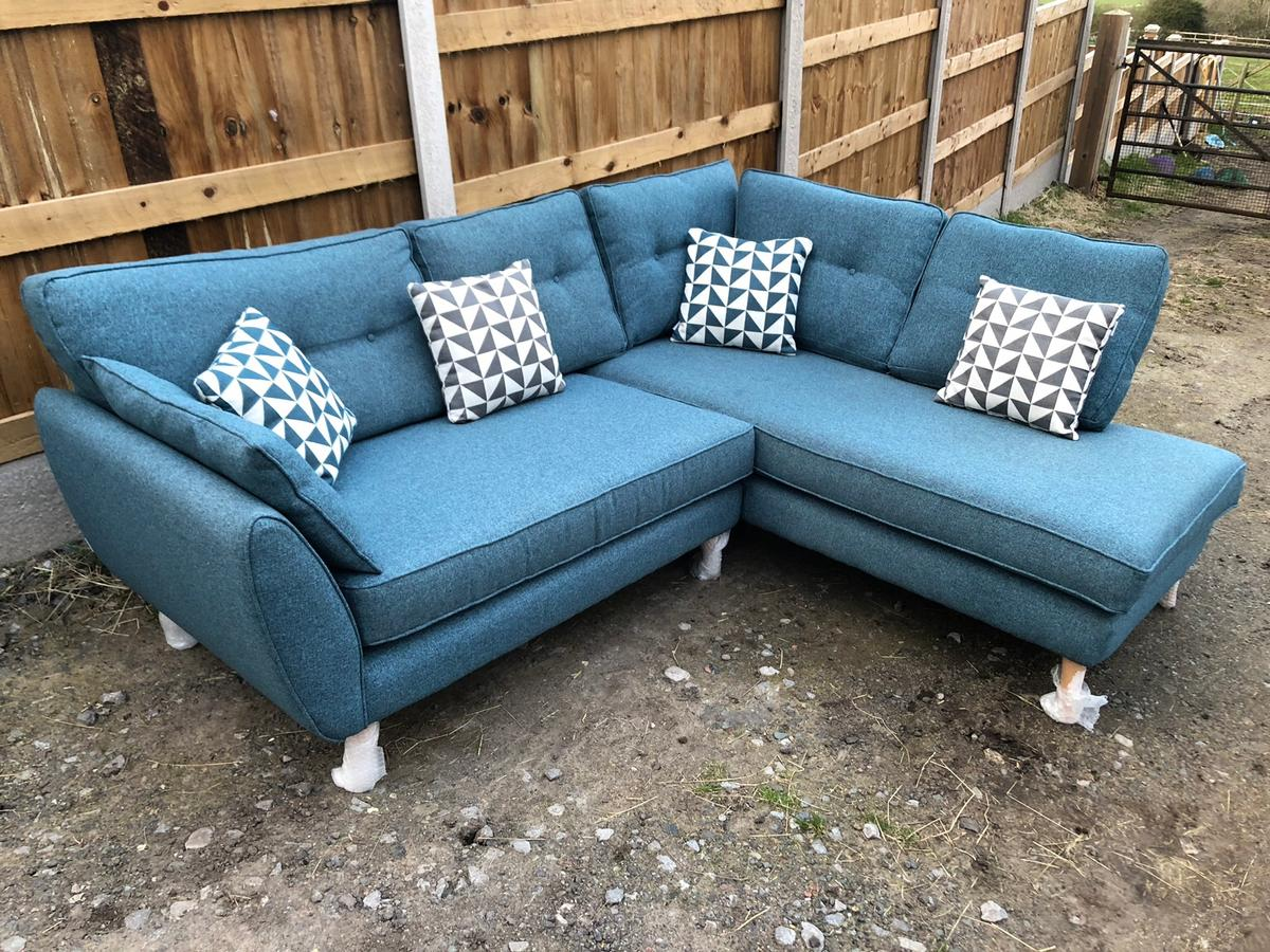 French Connection Zinc Corner Sofa Teal