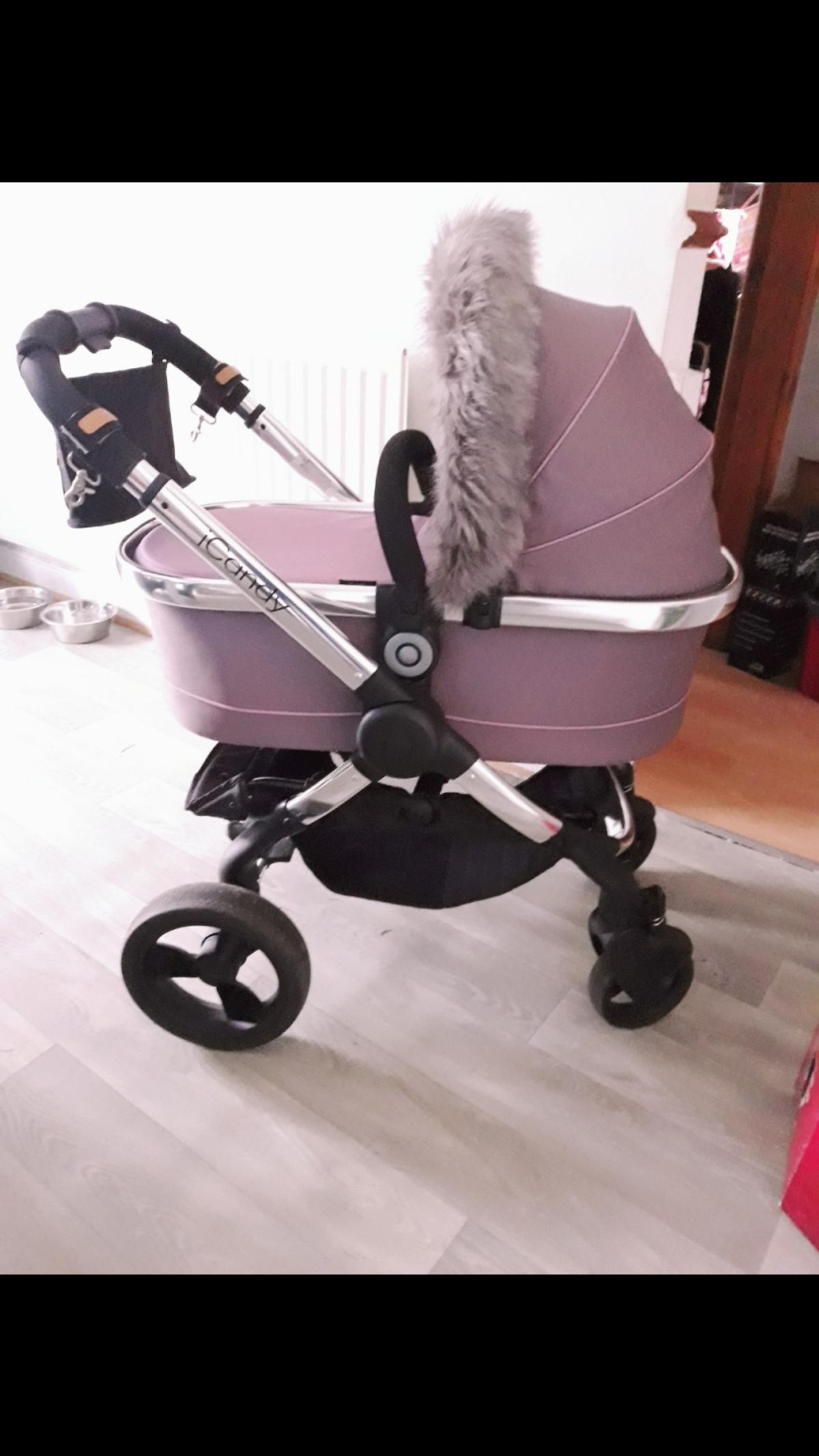 2 x iCandy Strawberry Side Arms For Strawberry Stroller Chrome Pair NEW