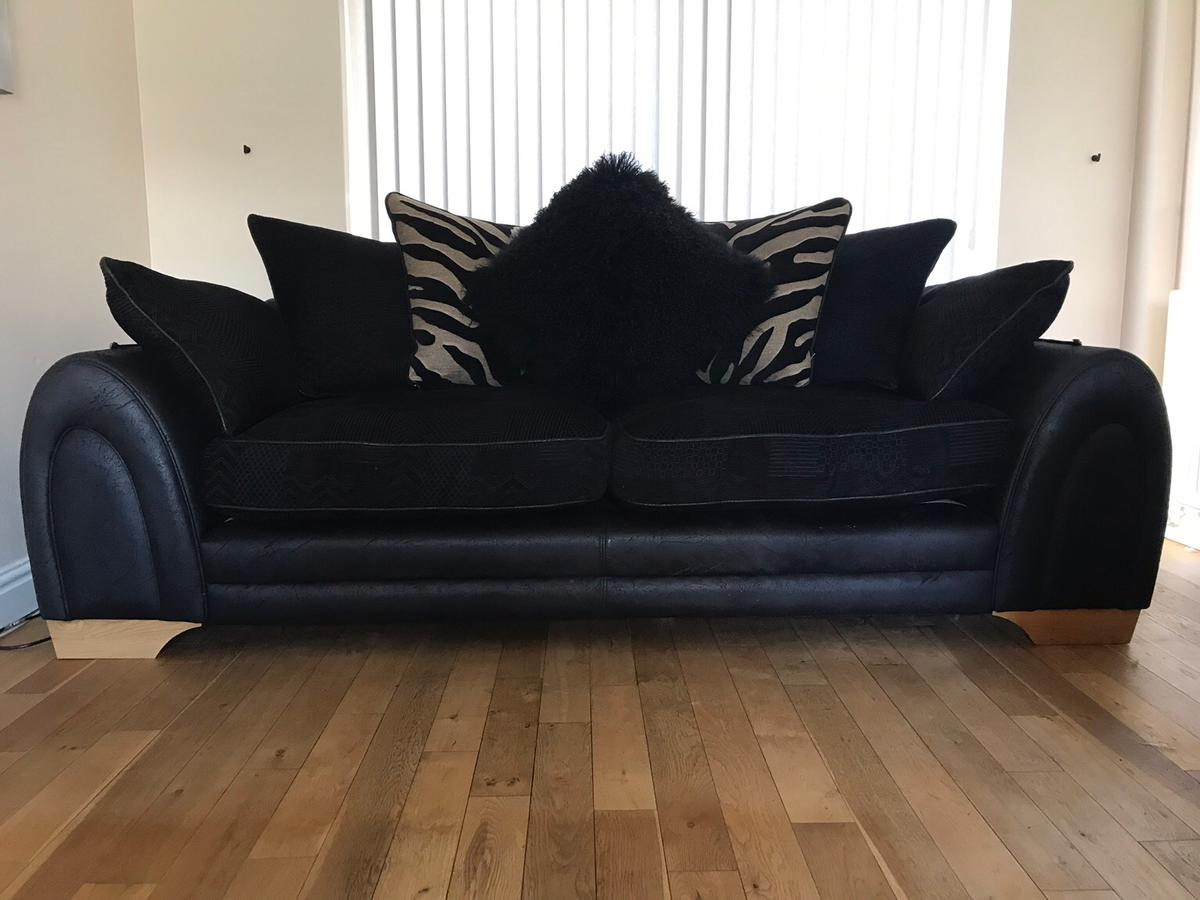 3 seater leather fabric DFS sofa in DE65 South Derbyshire ...