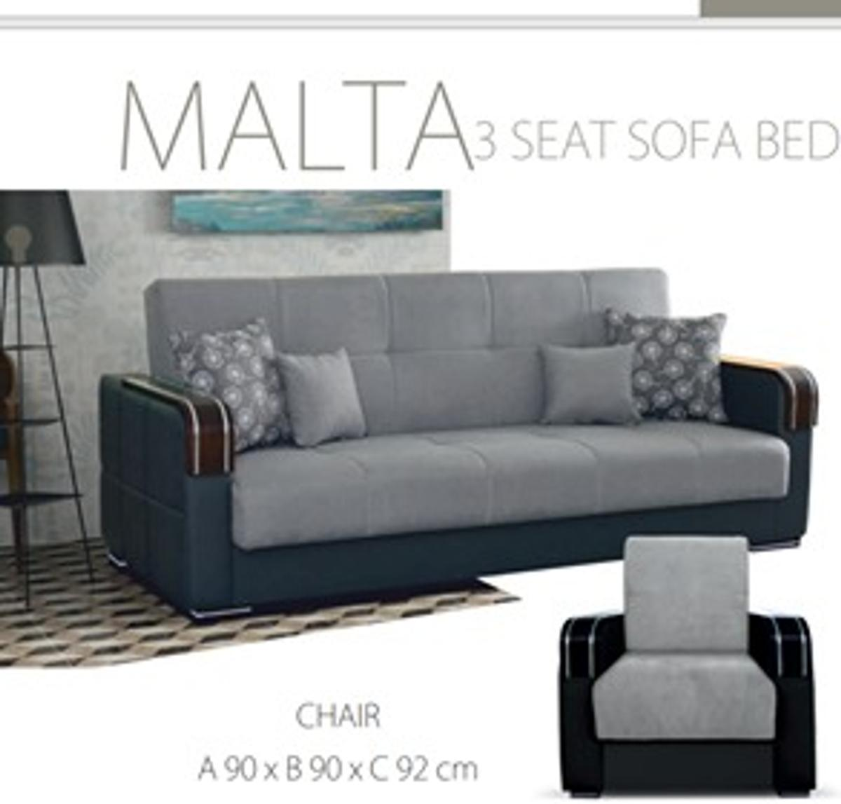 FABRIC MALTA 3 SEATER SOFABED in E1 0AE London for £229.00 ...