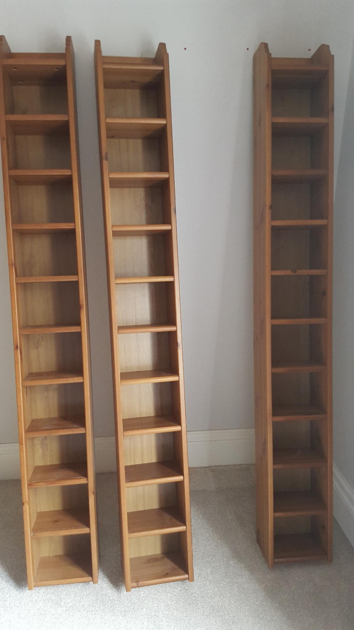 3 Ikea Leksvik Cd Tower Shelf Storage Pine In Nw2 Brent For 39 99 For Sale Shpock