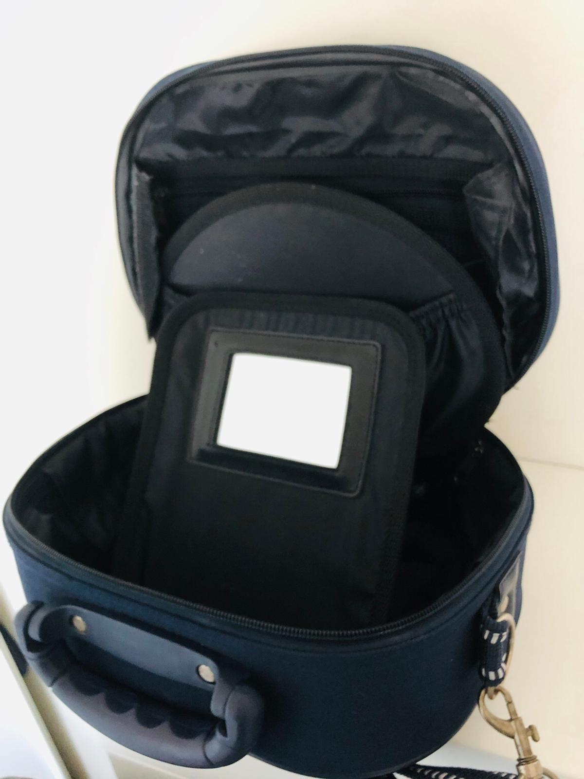factory outlets top fashion pretty cool Beauty case, rigido, in tessuto blu navy