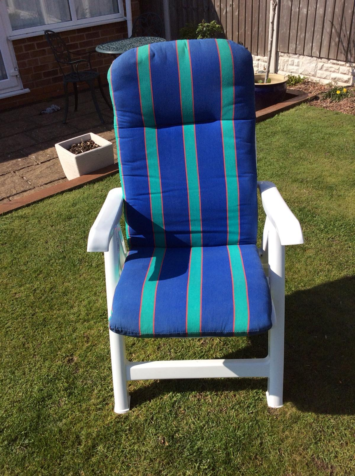 Terrific 4 Reclining Garden Chairs Creativecarmelina Interior Chair Design Creativecarmelinacom